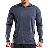 Gerlobal Mens Gym Workout Active Muscle Bodybuilding Long Sleeve Hoodies Casual Hooded Sweatshirts Grey,Medium
