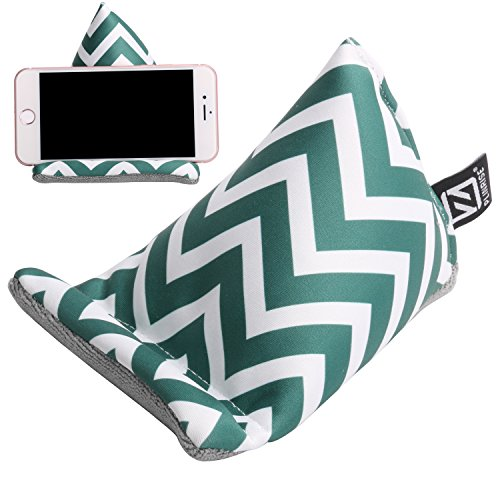Plinrise Multifunctional Fabric Phone Stands Iphone Bed & Lap Stand, Bean Bag, Universal Phone Holder, Soft Mounts For Smartphones, Best Gift To Friends And Families (Phone Sofa Green)