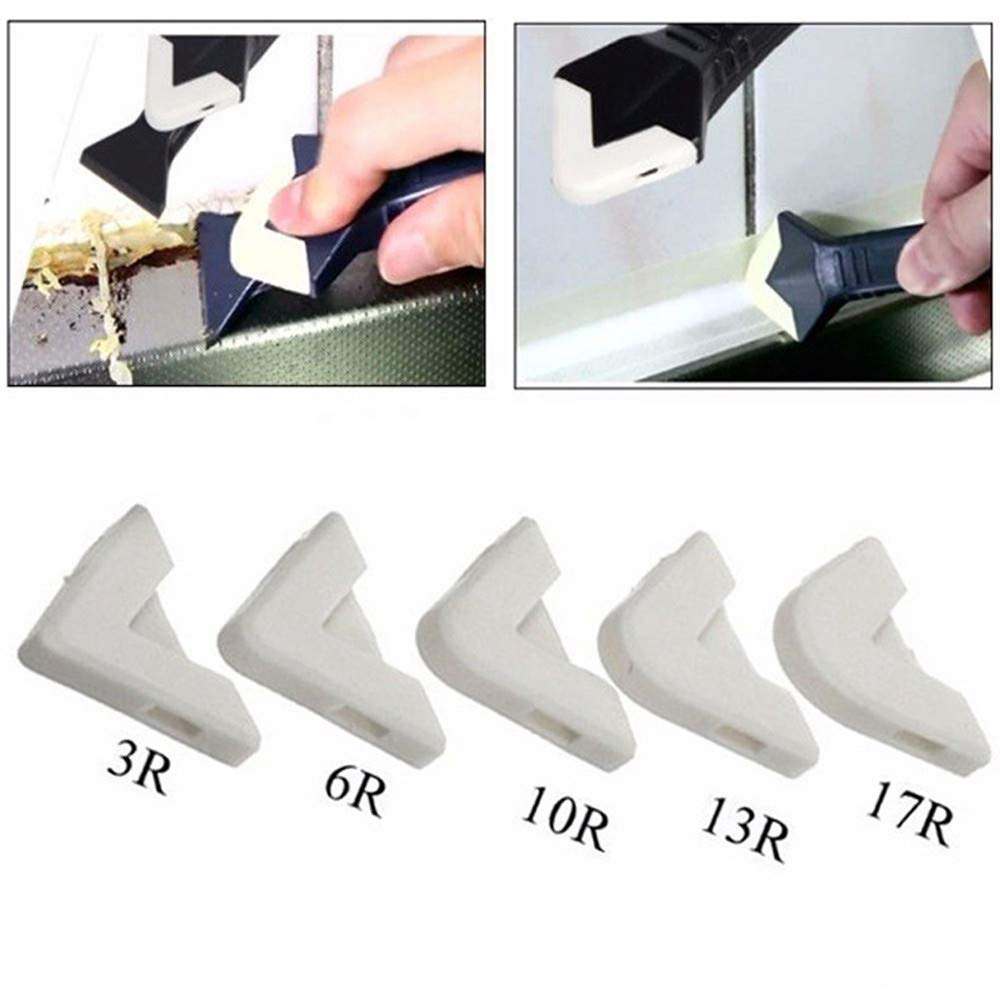 Sikye 5 Pcs Silicone Sealant Spreader Practical Spatula Scraper Cement Caulk Removal Tool,Hassle Free