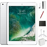 New Apple iPad 2017 Tablet (9.7 Inch, 32GB, Silver, 5th Generation, WiFi) + Accessories Bundle (10,000mAh iPad Power Bank, iPad Stylus Pen, Microfiber Cloth) MP2G2LL/A