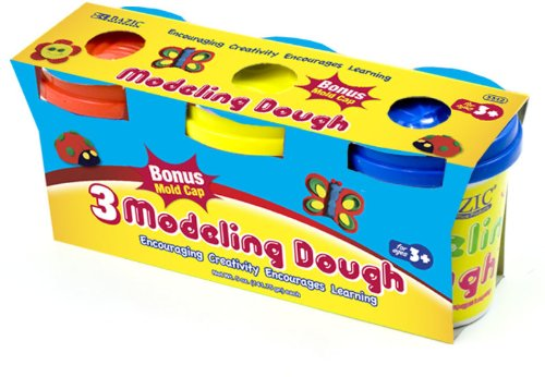Bazic 5 oz. Multi Color Modeling Dough - 3/Pack 24 pcs sku# 816427MA by Bazic