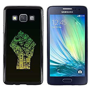 Be Good Phone Accessory // Dura Cáscara cubierta Protectora Caso Carcasa Funda de Protección para Samsung Galaxy A3 SM-A300 // Fist Power