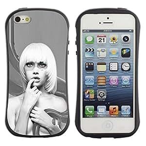 "Hypernova Slim Fit Dual Barniz Protector Caso Case Funda Para Apple iPhone SE / iPhone 5 / iPhone 5S [Resumen Mujer Rubia""]"