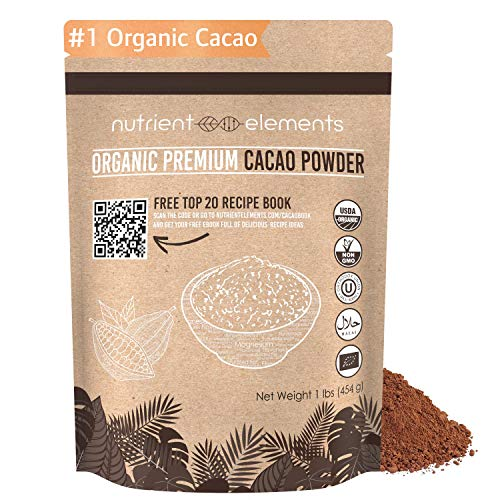 (2lb Premium Organic Cacao Powder - Certified Organic Cacao for Baking, Smoothies and More - Keto Super-food for Daily Use - Made from Highly Prized Criollo Beans in Peru - Gluten-Free & Vegan)
