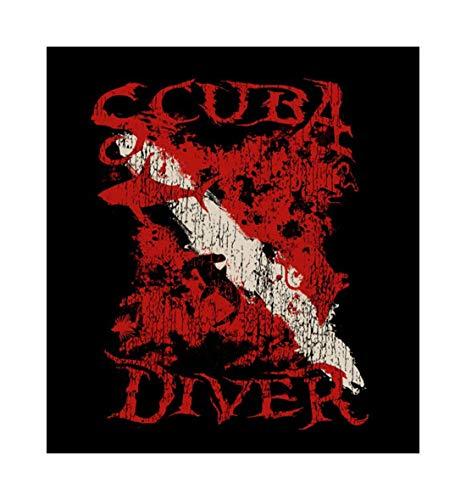 Amphibious Outfitters Dive Flag Scuba Diver T-shirt with Hidden Animals (Large)
