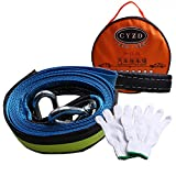 Tow Strap Heavy Duty 8 tons 5M Car Tow Rope Nylon Recovery , Tow Strap with 2 Safty Hooks, with Free Gloves