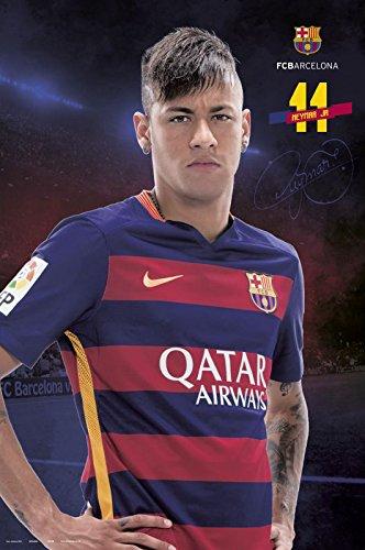 FCバルセロナ – スポーツ/サッカーポスター/印刷( Neymar da Silva Santos Jr。 – 2015 / 2016 ) ( Size : 24