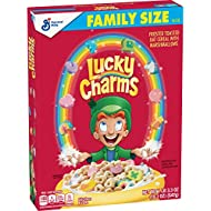 Lucky Charms, Marshmallow Cereal with Unicorns, Gluten Free, 19.3 oz