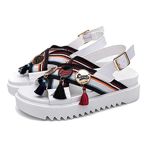 Sandales sandales de plage en caoutchouc en cuir white 38