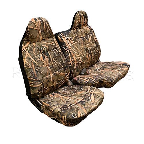 (Ford Ranger Regular Cab RCab 60/40 Split Bench Seat Cover A77 Molded Headrest 1998-2003 (Muddy Water)