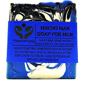 Macho Man Soap For Men Comes In Gift Box Handmade With Natural Ingredients Like Coconut Oil and Kaolin Clay (1 Pack)