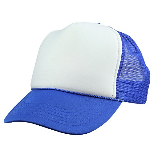 DALIX Mesh Youth Cap in Royal Blue and White