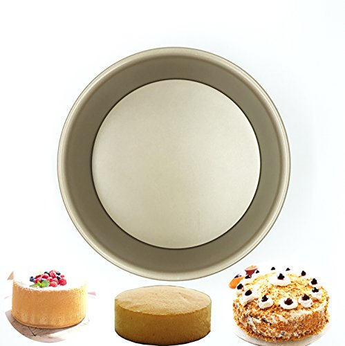 8.1 Inch X 3.1 InchHigh-carbon steel Round Cheesecake Pan Chiffon Cake Mold Baking Mould with Removable Bottom by give your best