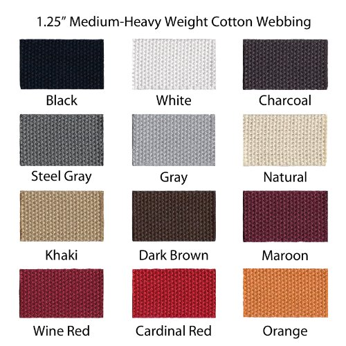 I Craft for Less 1 Yard Cotton Webbing - 1 1/4