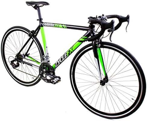 Zycle Fix Carrera 350 Road Bike Matte Black Lime Green