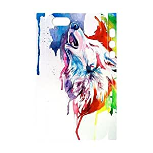 Howling Wolf Custom 3D Cover Case for Iphone 5,5S,diy phone case ygtg-801489