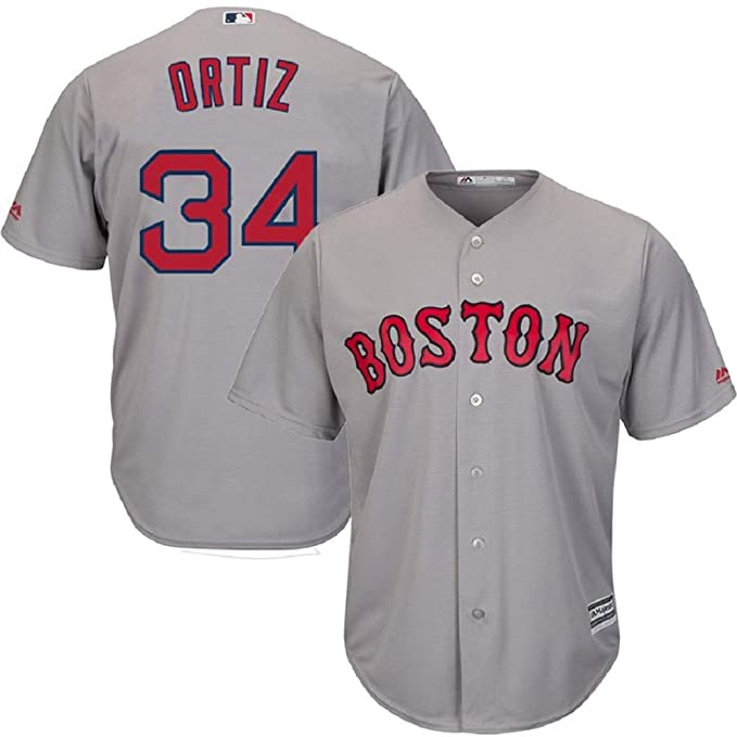 brand new b7be0 68943 Amazon.com: Boston Red Sox David Ortiz Jersey #34 Cool Base ...