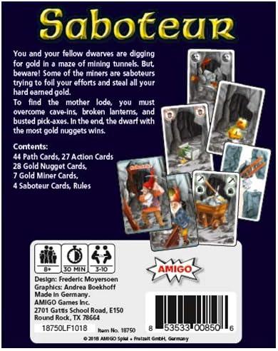 Mayfair Games mfg05712 – de Tablero Saboteur: Amazon.es: Juguetes y juegos