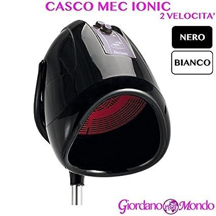Casco pelo Peluquería blanco o negro automático mec Ionic arredamento Ceriotti