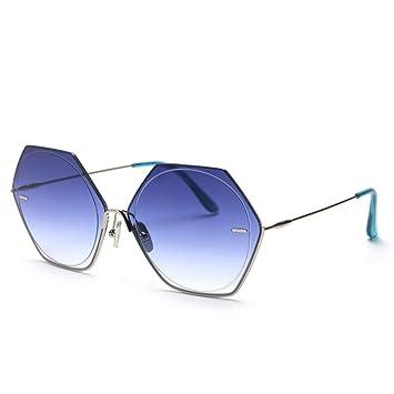 HCBYJ Gafas de sol Gafas de Sol hexagonales de Montura ...