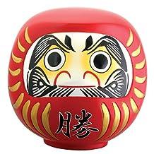 Japanese Daruma Doll Dharma Good Luck Zen Statue Decor Collectible