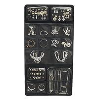 Keproch Jewelry Accessories Closet Hanging Storage Organizer with 16 Transparent Pocket Holders