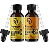 Facial Serum For Acne - Vitamin B3 & Vitamin C Serum - Gift Set of Two Facial Serums Niacinamide 5% & Vitamin C 20% All Natural Skin Hydrating Pore Minimizer Anti Aging Dark Spot Acne Scar Remover Powerhouse Duo for Face