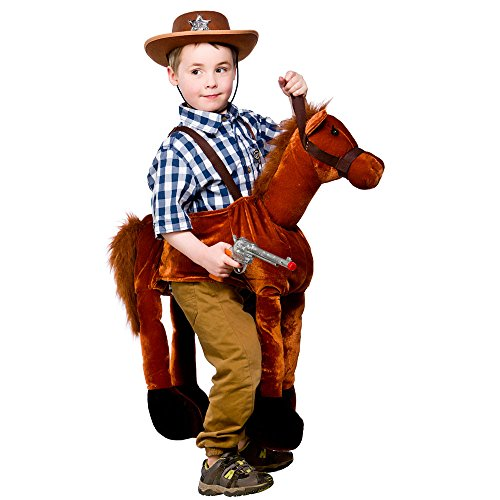 Ride On Horse Childrens Cowboy Fancy Dress Costume Boys Girls Horse Outfit 4-8 -