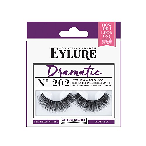 Eylure Naturalites Double Lashes, Dramatic, 202, Reusable, Adhesive Included, 1 Pair, 18.14 Gram