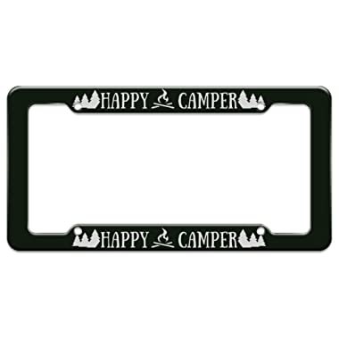 Graphics and More Happy Camper Campfire License Plate Tag Frame