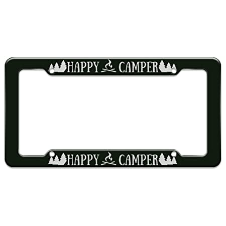 img buy Graphics and More Happy Camper Campfire License Plate Tag Frame