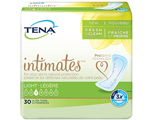TENA Intimates Light Ultra Thin Pads Regular 30 count (pack of 3) by Tena