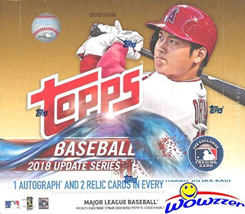 2018 Topps Update MLB Baseball ENORMOUS Factory Sealed HOBBY JUMBO Box with 500 Cards & AUTOGRAPH & 2 RELIC! Look for RCs, Variations & Auto's of Juan Soto, Shohei Ohtani, Ronald Acuna & More! WOWZZER ()