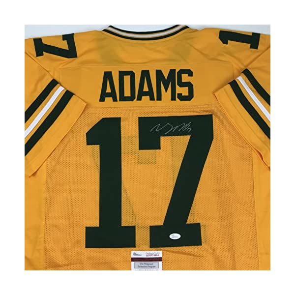171fbfa6 Autographed/Signed Davante Adams Green Bay Packers Yellow Color Rush ...
