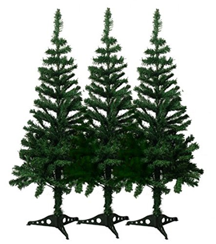 DLUX 6' Charlie Pine Artificial Christmas Tree (3 Pack) by DLUX