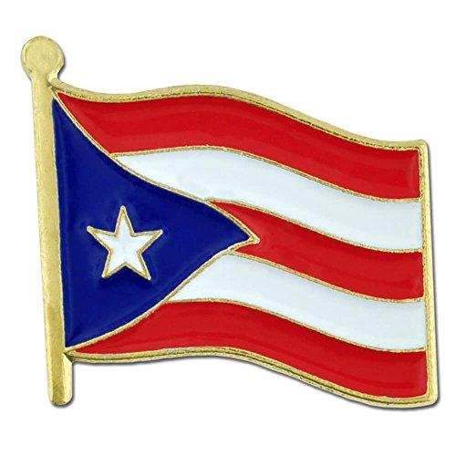 PinMart Puerto Rican Puerto Rico World Flag Enamel Lapel Pin 3/4