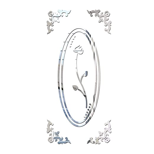 YWLINK Vinilos 3D DIY Lotus Moda AcríLico Etiqueta De La Pared ...