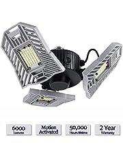 LED pour plafonnier de garage - ¨¦clairage d¨¦formable int¨¦rieur 6000LM