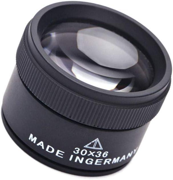 Gioielli 30x36mm ottici Magnifier Occhiali ingrandimento 30x Jewel Identificazione metallo Magnifie strumento Lens