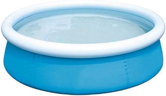 Piscina Inflable De Fácil Instalación Piscina De Juego Familiar Piscina De Agua De Verano Salón De Descanso Piscina Sobre El Nivel Del Suelo Centro De Natación Con Bomba De Aire Eléctrica 60X15in,Blue: