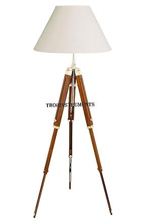 Thor clásica funda Marino trípode lámpara de pie retro ...