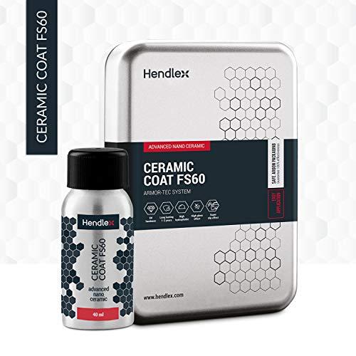Hendlex Car Paint Coating Ceramic Coat FS60 | Nano 9H Hydrophobic Coating for Car Body Paint Protection (1.35oz)