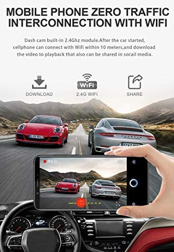 FITCAMX Dash Camera for Car 2018//2019 Toyota HIGHLANDER Hidden DVR Driving Recorder with Wifi Front lens 1080P FHD 170/° Wide Angle G-sensor Parking Monitor Loop Recording Night Vision APP Android IOS