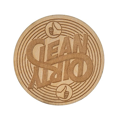 - Stellar Factory Clean VS. Dirty - A Reversible, Wood Dishwasher Magnet