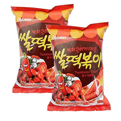 ROM AMERICA [ 2 Packs ] HOT Korean Rice Tteokbokki Snacks Chips 160g x 2