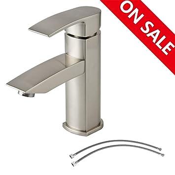 Amazon.com: Hotis Commercial - Grifo de lavabo de acero ...