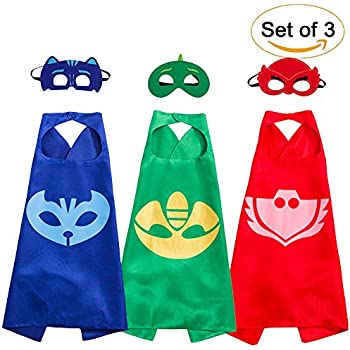 Kids Costumes Cape and Mask Set Role Play Dress Up Costumes for Kids