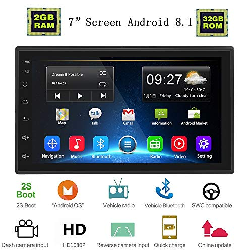 Liehuzhekeji Android 2G+32G Car Double Din Radio Receiver, 7