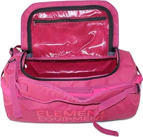 Element Equipment Trailhead Duffel Bag Shoulder Straps Waterproof Beet Red Small