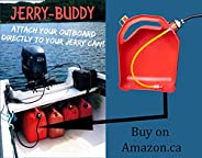 JERRY-BUDDY The Original Outboard Engine Adapter for All Standard Vented Fuel Cans for Boating; Best Gift for